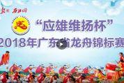 """""""应雄维扬杯""""2018年广东省龙舟锦标赛"""