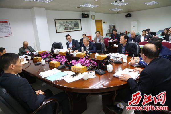 政协委员畅所欲言,小组讨论气氛热烈。 西江日报记者 梁小明 摄