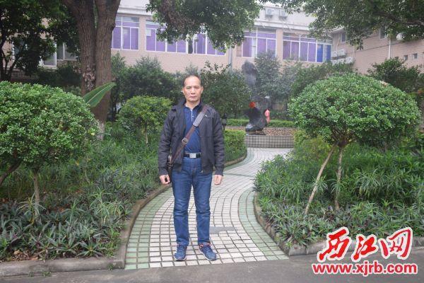 莫桂才。 西江日报记者 陈松连 摄