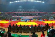 2019年全国柔道锦标赛在四会体育中心体育馆揭开序幕 来自全国各地的七百余名柔道精英在赛场上一较高下