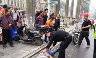 路人發病跌倒 四會城管救助