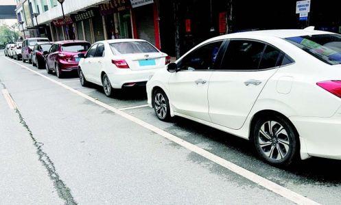 鼎湖街头规范停车彰显文明新风尚 将继续优化设计,适当增设停车位