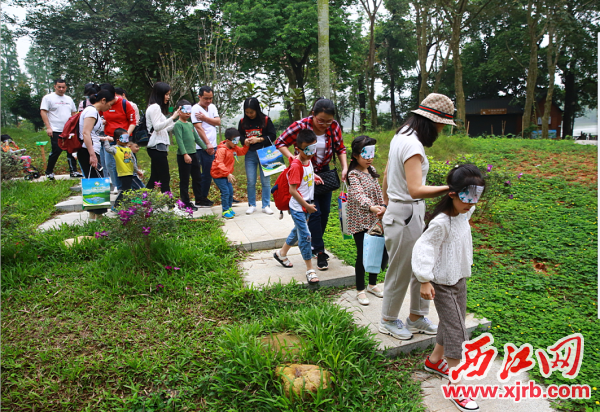 星湖国家湿地公园,亲子家庭积极 参与世界地球日宣传活动。 西江日报通讯员 麦健聪 摄