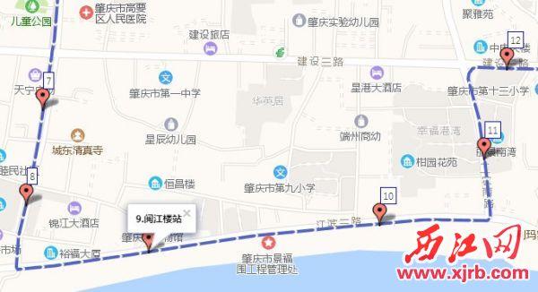 15路恢复原路线行驶路线图。