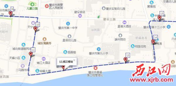 旅游1路恢复原路线行驶路线图。