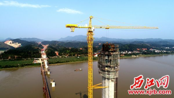 怀阳高速大桥封顶。 刘东桦 摄
