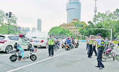肇庆市开展摩托车非机动车专项整治行动