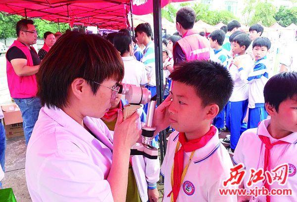 定期进行眼睛检查做到弱视早治疗。