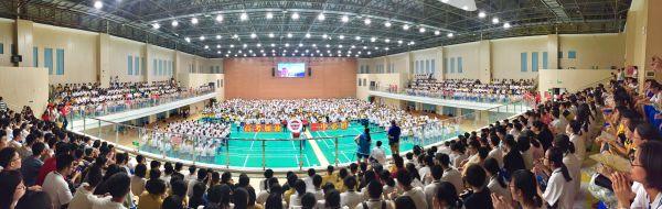 唱响高三 圆梦高考——2019年肇庆市第一中学青春歌会。记者 周仪 摄
