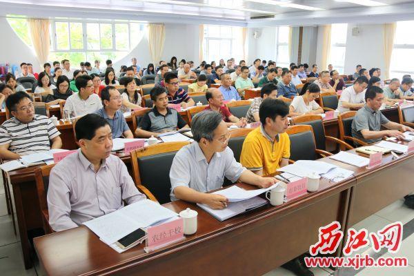 市农业农村局召开创建模范机关活动推进会(2)。记者 周仪 摄