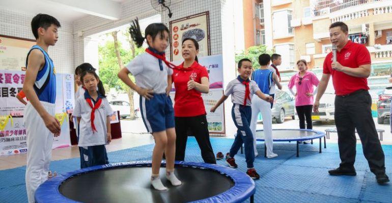 全国青少年体育冬夏令营 广东站蹦床项目在肇开班