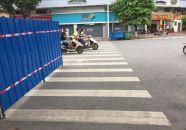 路口施工圍蔽被質疑有安全隱患