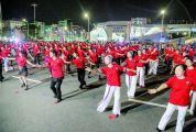 第三届广场舞公益推广活动广东站在肇举行