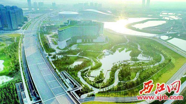 新区景观酒店航拍 西江日报记者 张水生 梁子伟 摄