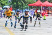 肇庆市举办轮滑公开赛 200多名选手参与角逐