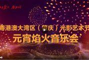 粵港澳大灣區(肇慶)光影藝術節元宵焰火音樂會