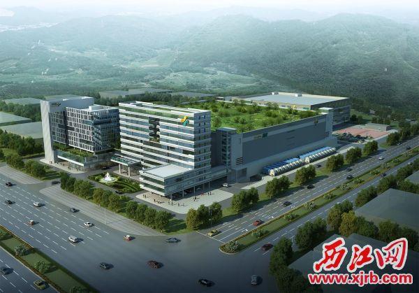 高济医疗·广东邦健总部项目效果图。