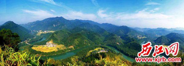 广宁古水河迷人景色。 江先梅 摄