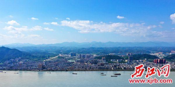 德庆县城日益变美。