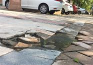 臻汇园200米人行道损坏多年无人修