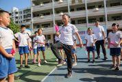 體育傳統項目毽球踢進校園 普及毽球技術 展示毽球魅力