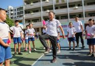 体育传统项目毽球踢进校园