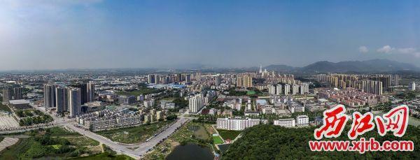 肇庆高新区航拍图。 王振宇 摄