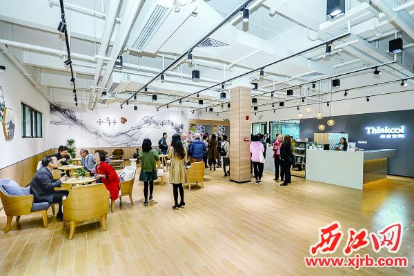 华师大光电产业研究院内供专家交流休息的星酷空间。 通讯员 王振宇 摄