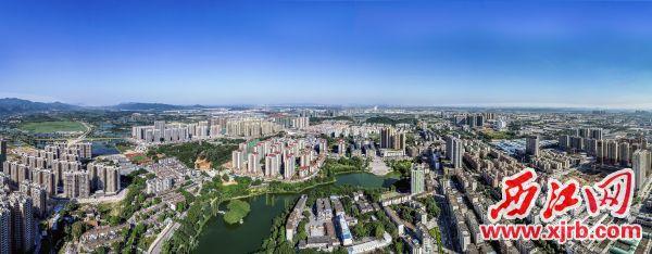 肇庆高新区城市一角。 肇庆高新区提供