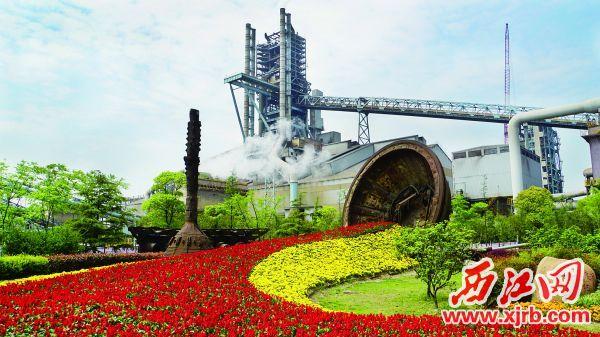 这是宝钢股份炼铁厂 一号高炉(资料照片)。  新华社