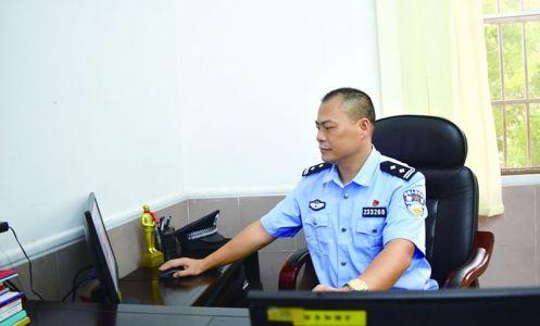 德慶縣公安局巡警大隊大隊長鄧錦標 崗位變了不變的是軍人本色
