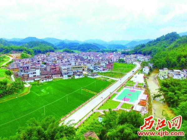 广宁省级乡村旅游精品线路节点——江美村。