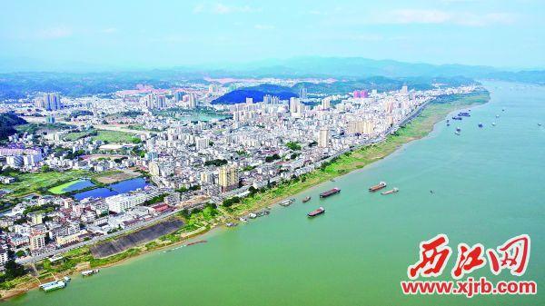 美丽的德庆县城。 西江日报通讯员 岑瑞青 摄