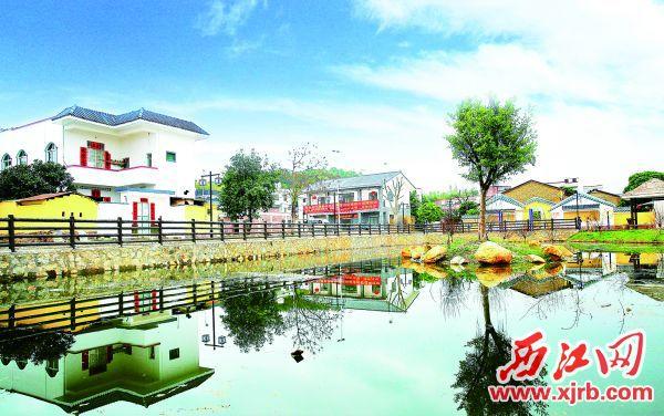 德庆县省级新农村金西村。 西江日报通讯员 陈剑彪 摄