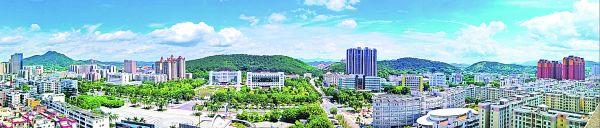 德庆县城面貌今非昔比。西江日报通讯员  温爱民 徐向光 摄