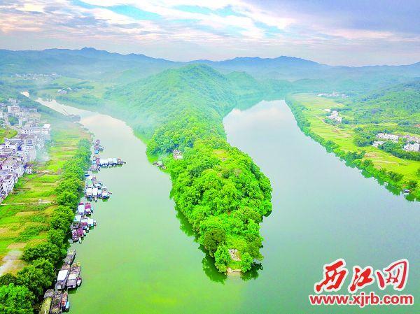 龙皇岛、东安江贺江合图。