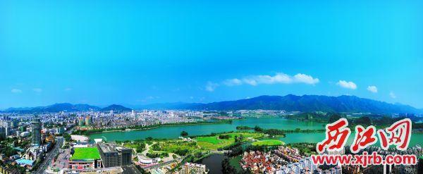 山湖城江,魅力端州,风光如画。