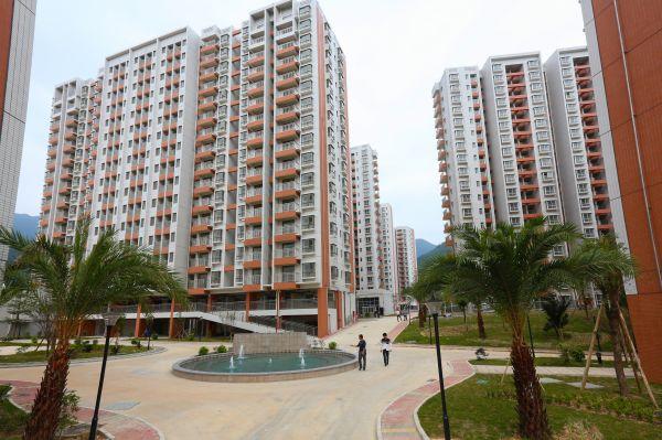 """市 直 保障房项目 """"惠兴居"""" 一二期完工, 为市民提供 安居乐业的 环境。"""