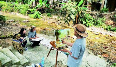 肇慶畫家描繪鼎湖風情