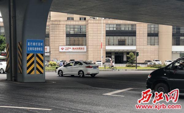 通行方式優化后,端州區建設路與古塔路交界路口變得更通暢。  西江日報記者 楊永新 攝