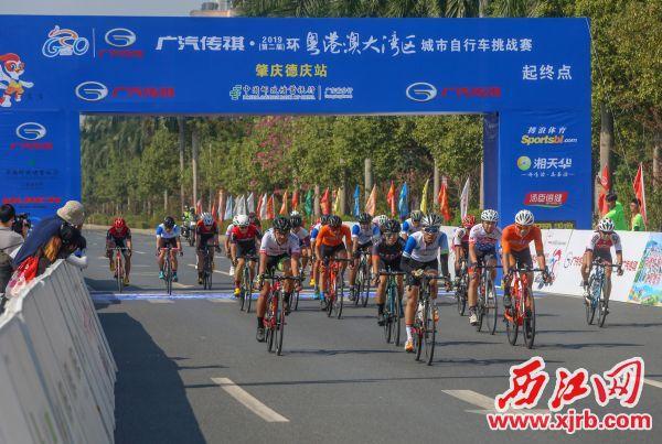 选手们准备冲刺。 西江日报记者 曹笑 摄