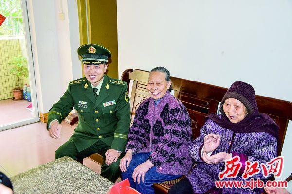 武警端州中队官兵30年如一日照顾自梳女。