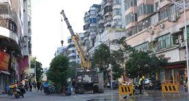 记者巡街 端州城区多个路段围蔽施工,到底是什么大工程?
