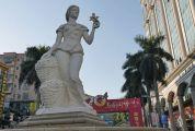 与柑桔产业发展关系密切,见证城市发展变迁 柑乡少女:四会最早的城市雕塑