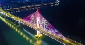 绝美!阅江大桥灯光秀再添新元素!
