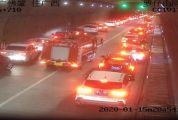 """肇庆上演真实版""""45度让路法"""",消防车4分钟通过长隧道!"""