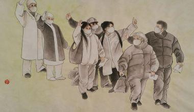 """礼赞""""最美逆行者""""肇庆市中国画学会在行动"""