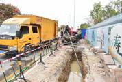 鼎湖城区污水管网工程响起机器轰隆声