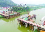高要新兴江一桥工程加紧施工