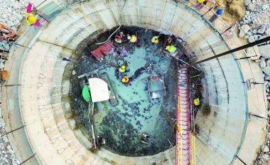 端州城区污水管网改造工程施工忙